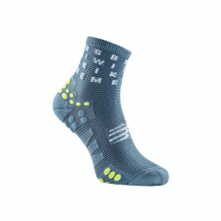 Calcetines Compressport ProRacing V3.0 Running Corte Alto Gris