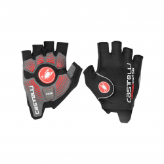 Guantes Cortos Castelli Pro Glove Rosso Corsa Negros
