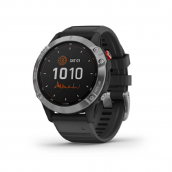 Garmin Fenix 6 Solar Silver with Black Strap