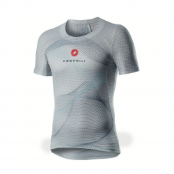 Castelli Pro Mesh Short Sleeve Gray Blue Men's Base Layer