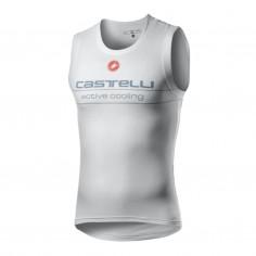 Camiseta interior Castelli Active Cooling sin mangas Blanco Hombre