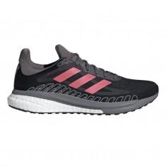 Zapatillas Adidas Solar Glide ST 3 Negro Rosa OI20 Mujer