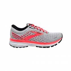 Zapatillas Brooks Ghost 13 Gris Coral OI20 Mujer