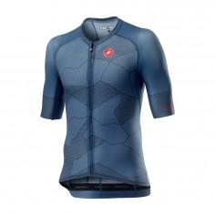 Maillot Castelli Climbers 3.0 Rosso Corsa Manga Corta Azul Oscuro Hombre