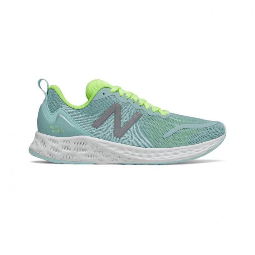 Zapatillas New Balance Fresh Foam Tempo Azul Verde OI20 Mujer