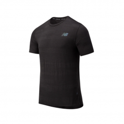 New Balance Q Speed Fuel Jacquard SS Black AW20 Men's Shirt