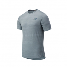 Camiseta New Balance Q Speed Fuel Jacquard SS Gris OI20 Hombre