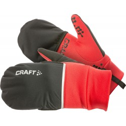 Guantes Hybrid Weather negro/rojo Craft