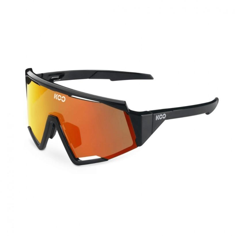 Koo Spectro Glasses Black Orange Lens