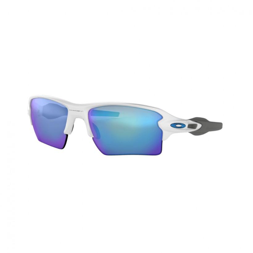 Oakley Flak 2.0 XL matte white sapphire Iridium cycling glasses
