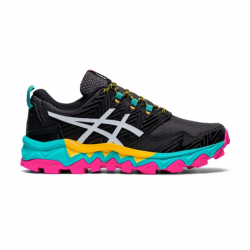 Asics Gel Fuji Trabuco 8 White Black Yellow AW20 Women's Running Shoes