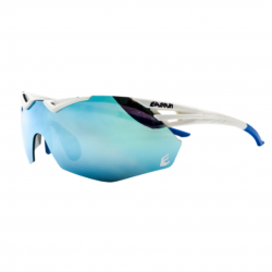 Eassun Avalon Matt Revo Blue and White Sunglasses