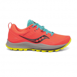 Saucony Peregrine 10 Orange Yellow AW20 Women's Running Shoes