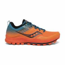 Saucony Peregrine 10 ST Shoes Orange Blue AW20