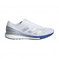 Adidas Adizero Boston 9 White Blue Men's Running Shoes