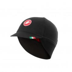 Castelli Difesa Thermal Black Red Cap