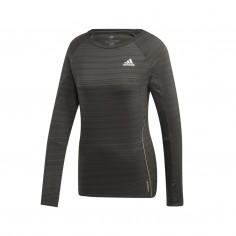 Camiseta Adidas Adi Runner gris manga larga Mujer