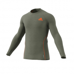 Adidas Adi Runner Long Sleeve Green T-Shirt