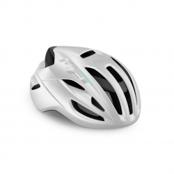 Casco Met Rivale Blanco Brillo