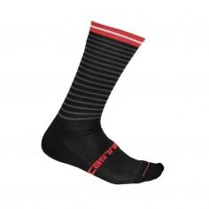 Calcetines Castelli Venti Soft Negro Rojo