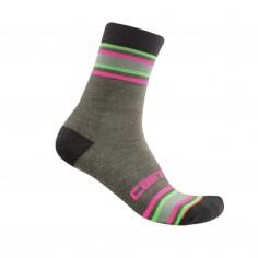 Castelli Striscia 13 Socks Gray multicolor woman