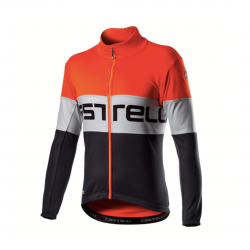 Castelli Prologo Jacket Orange Dark gray