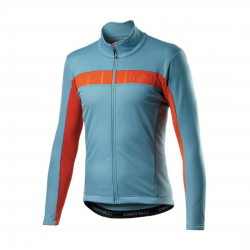 Castelli Mortirolo VI Jacket Sky blue Orange