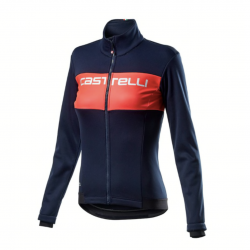 Castelli Como jacket dark blue pink woman