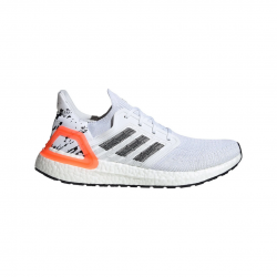 Adidas Ultra Boost 20 White Gray Red Running Shoes