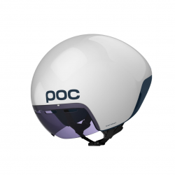 POC Cerebel White Blue Helmet