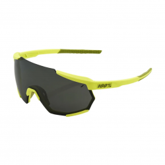 100% Racetrap Soft Tact Banana Sunglasses - Black Mirror Lens