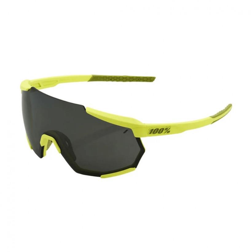 100% Racetrap Yellow Sunglasses - Black Mirror Lens