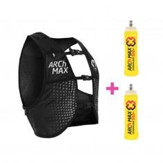 Chaleco hidratación ARCh MAX 6 L + 2 Soft Flask 500 ml Negro
