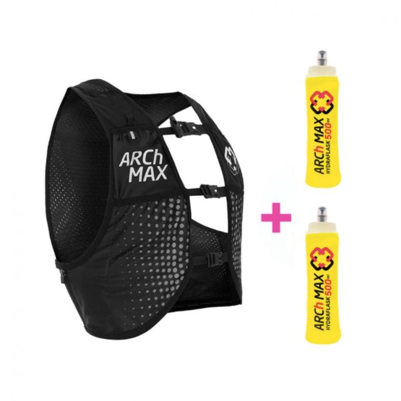 ARCh MAX hydration vest 6 L + 2 Soft Flask 500 ml Black