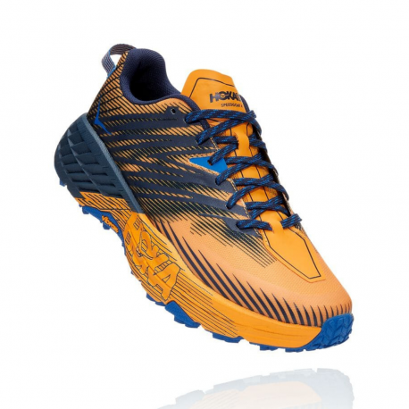 Zapatillas Hoka One One Speedgoat 4 Azul Dorado PV21