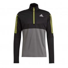 Sudadera Adidas Own the Run Running 1/2 ZIP Negro Gris Amarillo