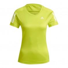 Camiseta Adidas Own The Run Amarillo Mujer