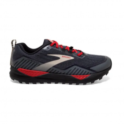 Brooks Cascadia 15 Shoes Black Red Gray