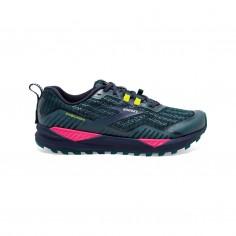 Brooks Cascadia 15 Blue Pink Yellow Women Shoes
