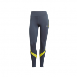 Adidas Own the Run TGT Legacy Blue / Acid Yellow Women's Tights