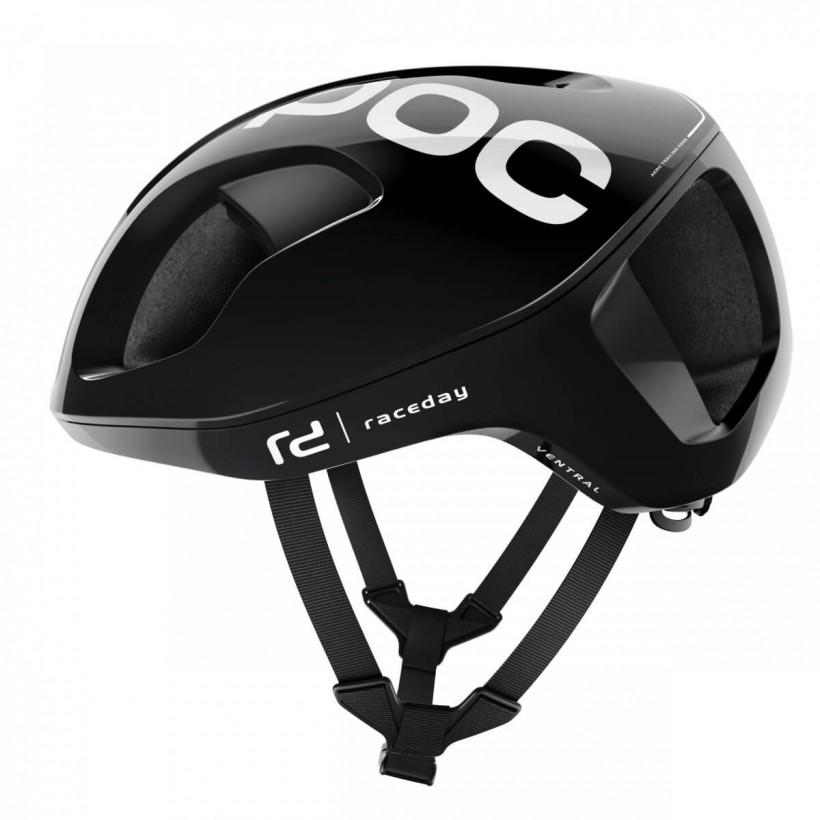 POC Ventral SPIN Black Uranium Raceday Helmet