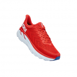 Hoka One One Clifton 7 Shoes White Red SS21
