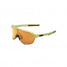 Gafas 100% S2 Matte Metallic Viperidae - Lentes Bronce Multilayer