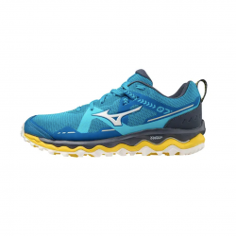 Zapatillas Mizuno Wave Mujin 7 Azul claro Amarillo Fluor SS21