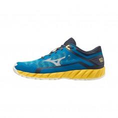 Zapatillas Mizuno Wave Ibuki 3 Azul Amarillo PV21