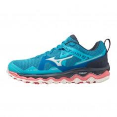 Zapatillas Mizuno Wave Mujin 7 Azul Claro Rosa PV21 Mujer