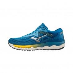 Zapatillas Mizuno Wave Sky 4 Azul Amarillo PV21