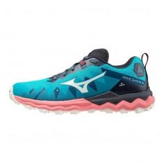 Zapatillas Mizuno Wave Daichi 6 Azul Claro Rosa PV21 Mujer
