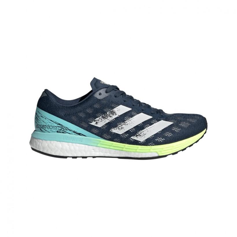 Adidas Adizero Boston 9 Dark Blue Yellow SS21 Women's Running Shoes
