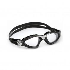 Aqua Sphere Kayenne Swimming Goggles Black Silver Clear lens